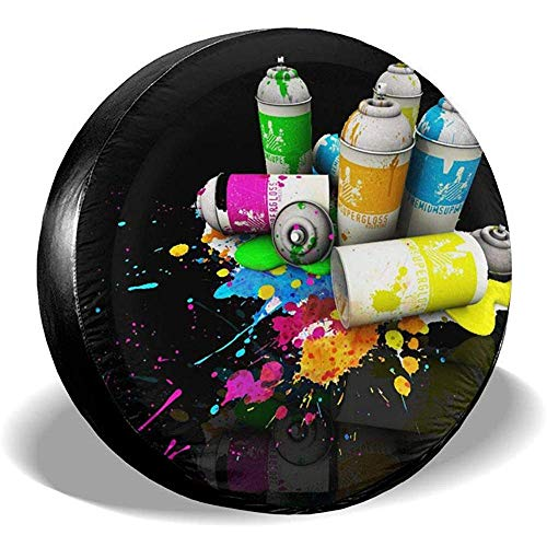 Graffiti Can Spare Wheel Cover per Pneumatici Fuoristrada Extreme Speed   Overdrive Univers