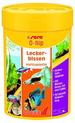 sera 00440 O-nip FD-mix 100 Tabletten - Die Hafttablette mit Leckerbissen besonders für Schmerlen und Welse im Gesellschaftsaquarium