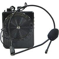 Vinciann Megáfono Amplificador de Voz 5W micrófono Radio FM Reproductor de MP3(USB microSD K8