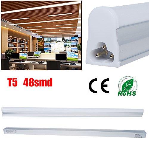 THG LED Leuchtstoffröhre T5 60cm naturweiß Tube 9 Watt 48LEDs 2835 SMD 800Lumens cool white (Skylight Tube)