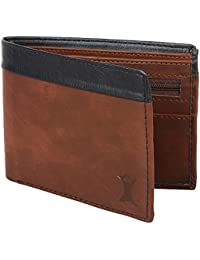 Creature Brown Pu Leather Wallet For Men (Colour-Brown/Black || WL-007 || 4 Card Slots|| 1 Zip Pocket)