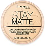 Rimmel London Stay Matte Long Lasting Pressed Powder, Transparent 0.49 oz