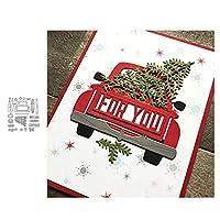 wiFndTu Cutting Dies, Car Tree Gift Box Metal Cutting Dies DIY Scrapbooking Paper Cards Album Stencil - Silver