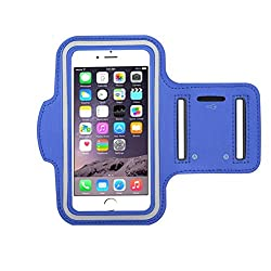 Go Crazzy Arm Band Workout Cover Sport Gym Case With Screen Proptector For Apple Iphone X (2017) (Dark Blue)