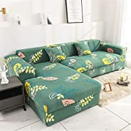 L-shaped sofa cover, printing stretchable sofa cover, gift sponge stick, universal stretch polyester fabric so