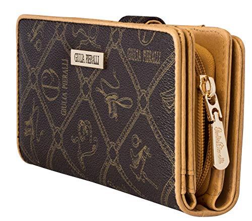 026f5dda51b21 Giulia Pieralli Damen Portemonnaie Lang BRAUN GELDBÖRSE Damenbörse XXL  Luxus Geldtasche MIT Geschenkpackung (5003 Braun