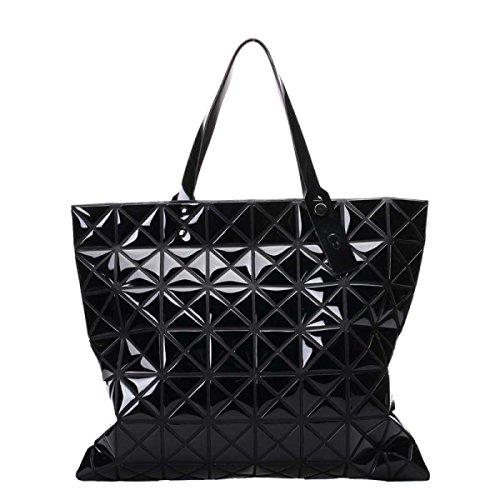 Borsa A Tracolla Moda Geometrica Da Donna A Mano Multicolore Nera