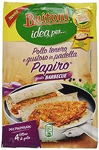 Buitoni Idea per Pollo Tenero e Gustoso Papiro con Barbecue Fogli di Carta Speziata, 4 Pezzi