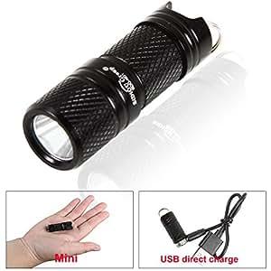 Sidiou Group XPG R5 LED 300LM lampe de poche MINI lampe de poche USB lampe rechargeable & portable de poche mini lampe de poche de porte-clés