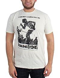 Rolling Stones–Vintage Poster Tour 30/1Enzyme Washed Herren T-Shirt in natürliche