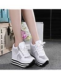 Longra Donna Una moda scarpe pedale signora (EU Size:39, Blu)