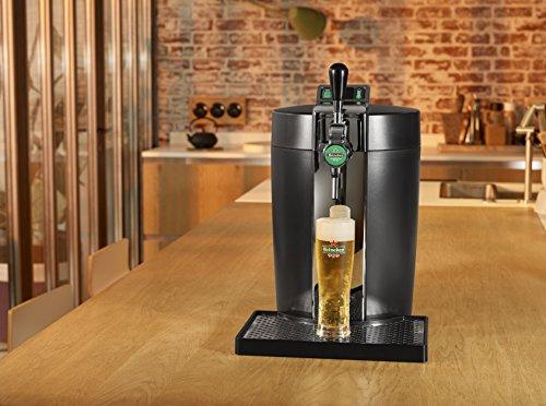 Krups VB7008 5L Dispensador de cerveza de barril - Tirador de cerveza (5,38 kg, 300 x 452 x 494 mm, 61 W, Poder)