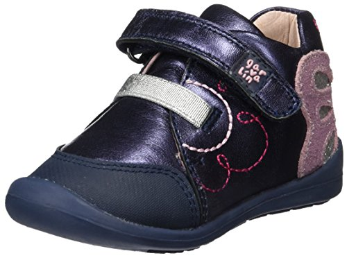Garvalín Baby Mädchen 171314 Lauflernschuhe, Blau (Marineblau/Metal Cris), 20 EU (Kinder, Mädchen, Garvalin Schuhe)