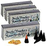 6 Päckchen - Echt Bucker Räucherkerzen - 4 Päckchen Weihrauch + 2 Päckchen Myrrhe