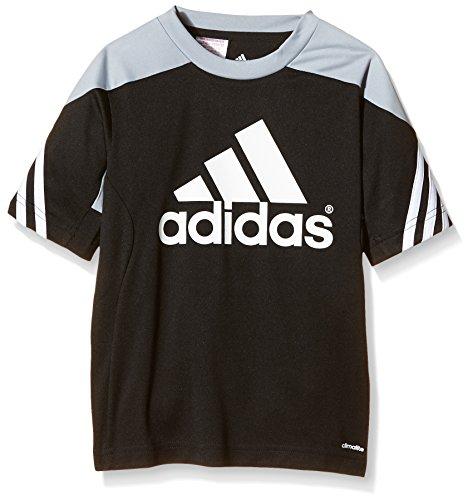 Jungen Sportbekleidung (adidas Kinder Trikot Sereno 14, Black/Silver/White, 152, F49696)