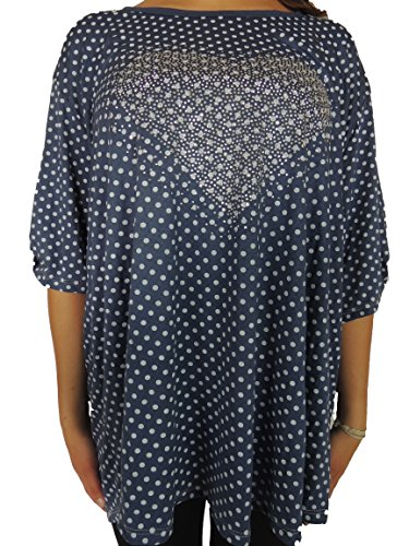 Verschiedene Farben Damen Blusen zur Auswahl Größe 48, 50, 52, 54, 56 Blauton