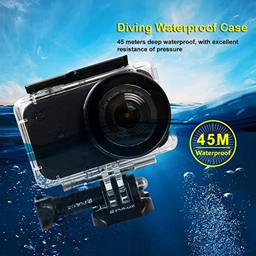 wasserdichte Gehäuse Case Schutzbox SO-buts für Xiaomi Mijia 4 k Mini Action Kamera, Kleine Kamera wasserdichte Case 45 m (Weiß) 4 Bundle-fall