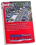 Busch 8249 Carports 2/N Scale Scenery Kit