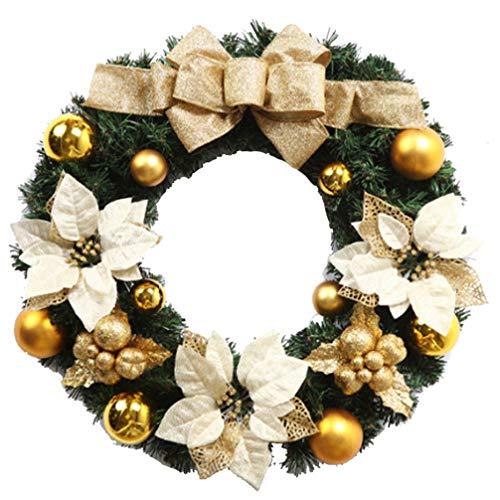 Ghirlande christmas wreath christmas door hanging decorazione vetrina decorazione natalizia dorata pendente 30cm