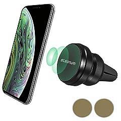 Idea Regalo - steanum Supporto Auto Smartphone Magnetico, Girevole a 360 Gradi Universale Porta Cellulare Auto per iPhone XS Max/Xs/Xr/X/8/7/6, Samsung S10/S9/S8/S7/S6 Note9/8/5,Huawei, Xiaomi/One Plus ECC,Nero