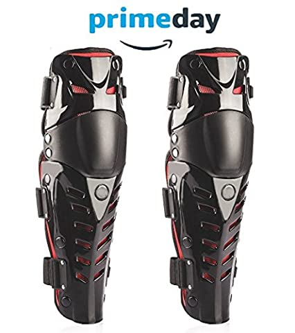 Graceug Knee shin protection ,Racing Enforcer Adult Knee/Shin Guard Motocross Motorcycle Body Armor - Black Racing motorcycle Knee Protector