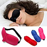 EgBert 3D Morbido Viaggio Comfort Traspirante Donne Uomo Ombreggiatura Occhio Maschera Occhi Accecante Ombretto - Rosso