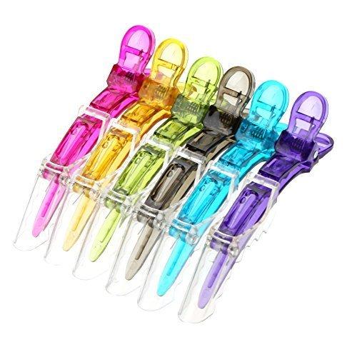 12 Stücke Haarklemmen Friseur Clip Friseur Abteilklammern aus Metall Grün