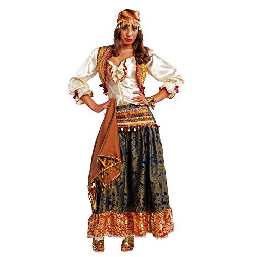 Damen Kostüm Zigeunerin Esmeralda Rock Bluse Tänzerin Wahrsagerin Andere Länder Fasching Karneval (S)