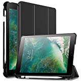 #7: Oaky Ipad 9.7 Inch 2018 6Th Generation Case With Pencil Holder Shockproof Lightweight Soft Tpu Folio Smart Back Cover- Black