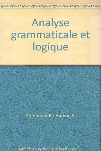 Analyse grammaticale et logique