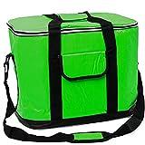 XXL Kühltasche 30 Liter Grün Kühlbox Thermotasche Isoliertasche Camping Picknick Tasche Box Größen