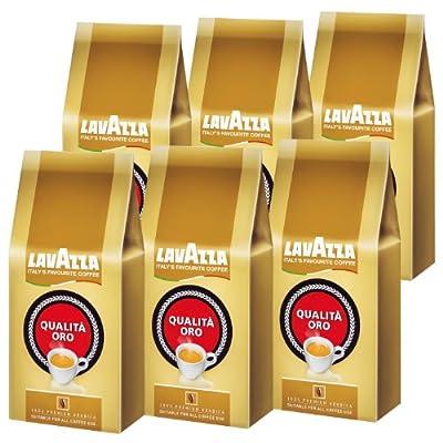 Lavazza Qualita Oro Coffee Beans, 1000g (Pack of 6, Total 6000g) by Luigi Lavazza S.p.A.