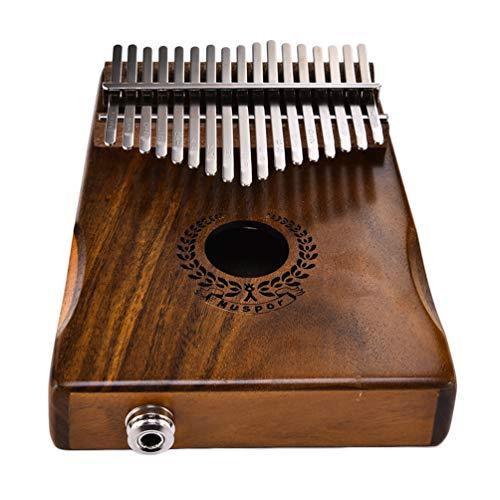 Kalimba Daumenklavier, 17 Tasten Akazie Portable Einstellbar Professionell Leicht zu Spielen Daumenklavier - Girlande Muster - Akazie Grün