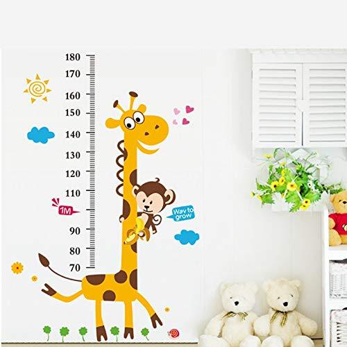Atiehua Wandtattoos Giraffe Affe Höhe Maßnahme Wandaufkleber Für Kinderzimmer Kinder Maßtabelle...