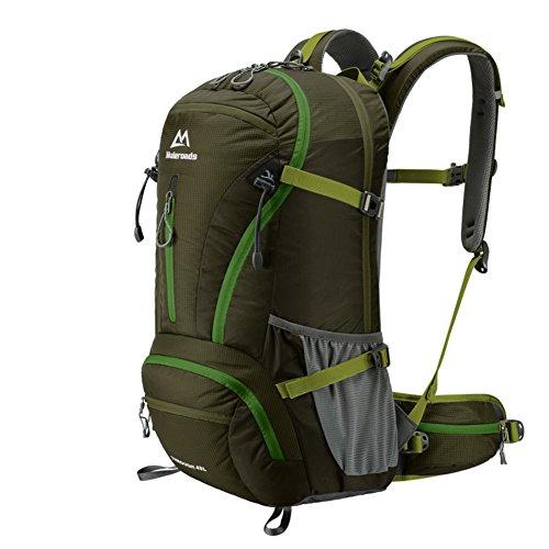 Outdoor-Rucksack/Rucksack/Wandern Tasche/Bergsteigen Tasche-schwarz 40L Armee-Grün
