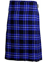 Azul Tartán Hombre 4.6m Escocés Faldas Escocesas TARTÁN KILT 369ml Highland Informal Kilt