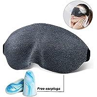 Schlafmaske 3D Augenmaske zum Schlafen mit Anti-Lärm-Ohrstöpsel Super Soft Augenbinde Eye Shades für Männer Frauen... preisvergleich bei billige-tabletten.eu
