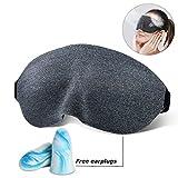 Antifaz para dormir, 3D Máscara para Dormir con tapones anti-ruido para los oídos gratis, 100%...