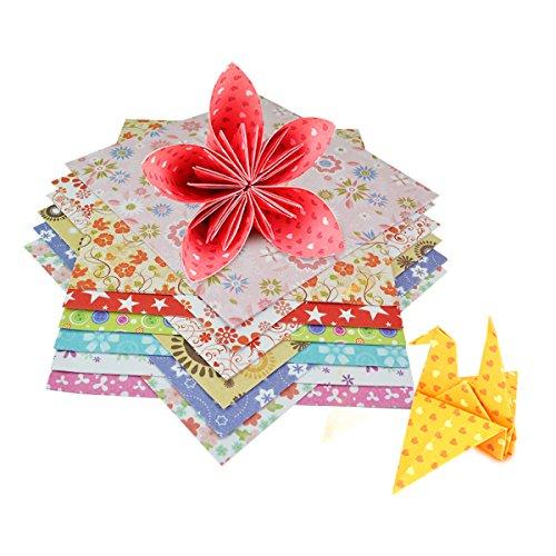 72pcs Origami Papier, Jmkcoz 72 Blätter Origami Papier Quadrat Blätter 15cm x 15cm mit 12 verschiedenen Farben und Mustern