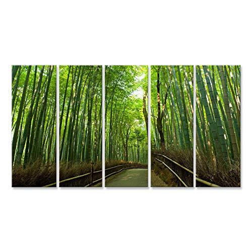 Cuadro Cuadros bosque de bambú famosa en Arashiyama, Kyoto - Japón Impresión sobre lienzo - Formato Grande - Cuadros modernos CYR