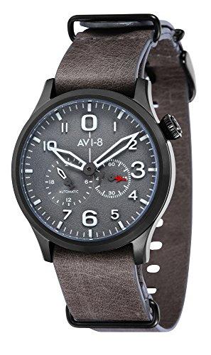 Avi-8Flyboy automatique Cadran Gris montre pour homme Av-4048–04