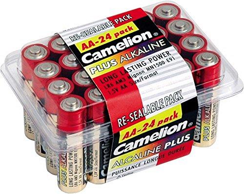 Camelion 11102406 Haushaltspack Mignon-Batterie Plus Alkaline 1,5V, Typ AA, 24-er Pack Plus Aa Pack