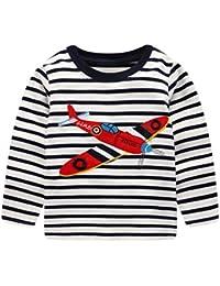 Tarkis Jungen Baumwolle Dinosaurier Langarmshirt für Kinder Babyjungen Warm Langarm Sweatershirt Pullover Tops