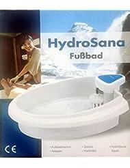 Hydrosana - Bain pour massage des pieds avec 3 bobines Blanc Bio - Bain électrolyse pour les pieds - Cuve pour les pieds - Massage des pieds