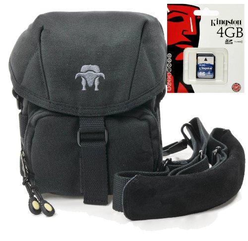 Progallio Foto-Tasche universal Kameratasche Typ SOUTHBULL CAMP S black im Set mit 4GB SD Karte