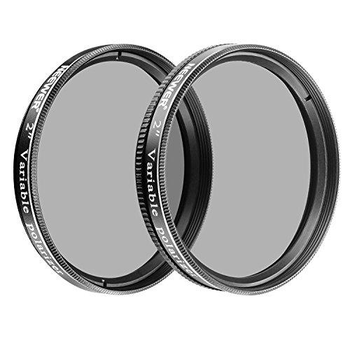 Neewer 2 Zoll Variable Polarisationsfilter Optisches Glas für Teleskope und Okulare, um die Ansicht zu verkleinern, Kontrast erhöhen, Blendung reduzieren und Detail vergrößern (2 Stück)