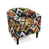Versa 19501338 Sillón Dover, 62x60x62, Poliéster, Multicolor, Butaca redonda