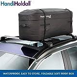 HandiHoldall - wasserdichte Dachtasche/Dachbox (schwarz), 175 Liter - große Cargotasche - Stabiler Faltbarer Boden