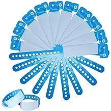 SwirlColor Pulseras Identificacion para Adultos, Muñequeras Desechables para Eventos PVC para Adolescentes Pulsera de identificación