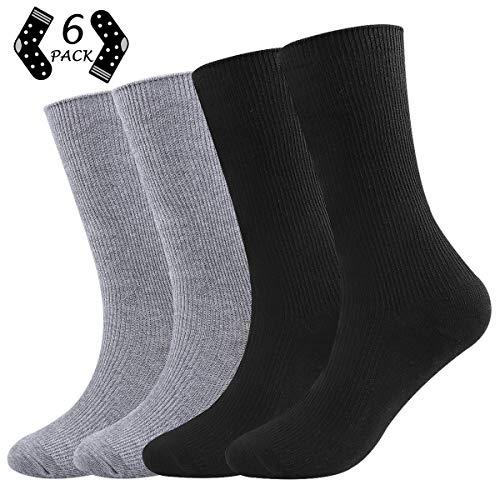 ECOMBOS Damen Socken - 4/6/12 Paar Damen Sneaker Baumwoll Klassische Socken Mädchen Bunt Freizeit Strümpfe Hoher Knöchel Socken für Frauen (Gentleman-b) - Baumwoll-stretch Knöchel-socken